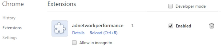 ad network performance removal chrome