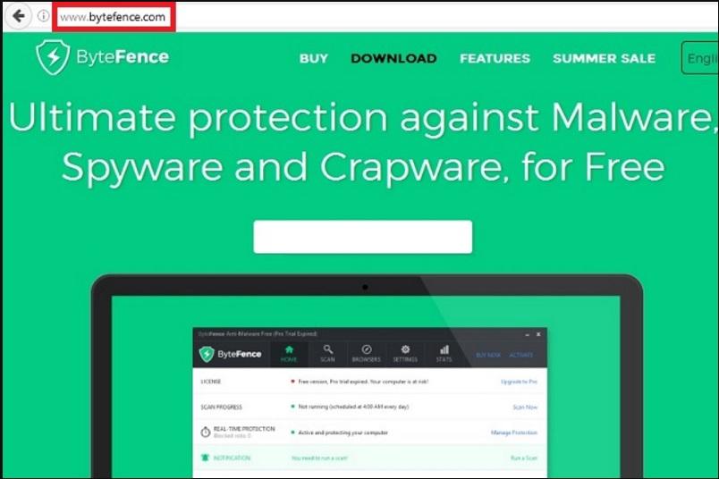 remove bytefence anti malware